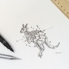 Image result for geometric aboriginal kangaroo tattoo