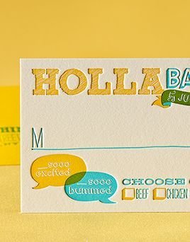 Billboard Reply Card by honey-paper.com #wedding #whimsicalwedding #circuswedding