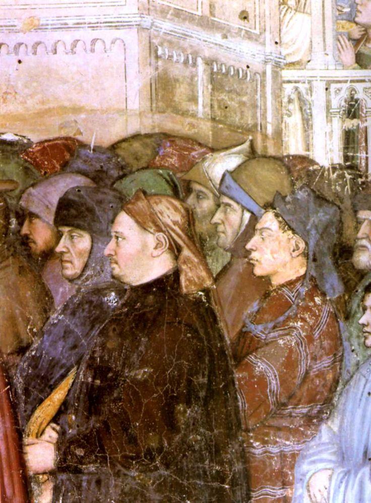 1379-1384 / Altichiero / les funérailles de sainte Lucie / détail avec portrait de Pétrarque.