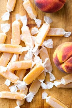 Peach Caramels... may try a reduction of the peach puree to try to concentrate the peachy flavor