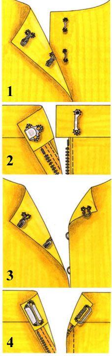 Come cucire i bottoni e ganci per i vestiti