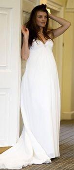Robe simple pour femme enceinte en mousseline de soie robe de mariée enceinte