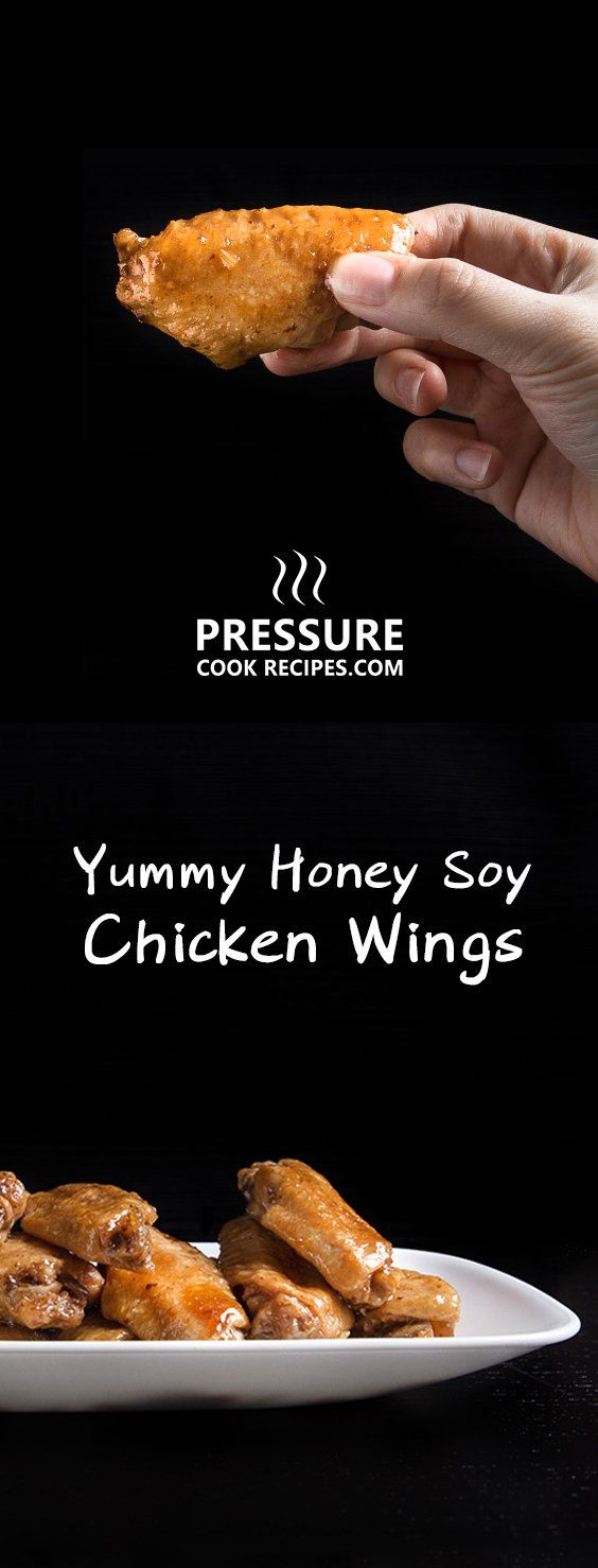 Make these Honey Soy Chicken Wings with 10 mins prep! Super flavorful & tender honey garlic chicken wings are great for dinners, parties, picnics or BBQ. via @pressurecookrec