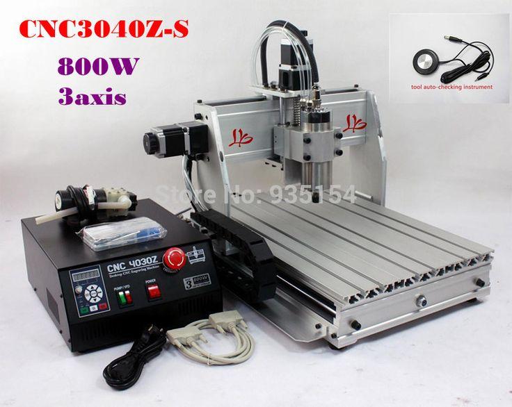 Desktop CNC 3040Z-S 3 axis CNC Machine, Woodworking machinery CNC Engraving Machine CNC Lathe, free tax to EU