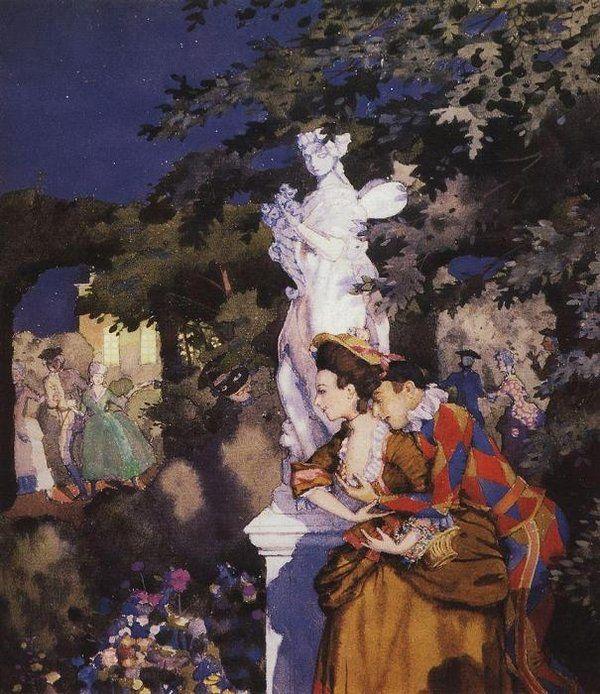 "Константин Сомов. ""Влюбленный Арлекин"", 1912/  Konstantin Somov (1869-1939) - Harlequin in Love"