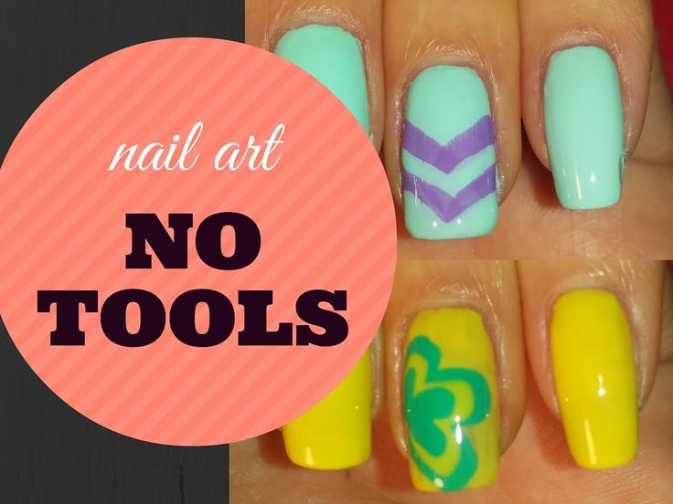 NO TOOL nail art, EASY!