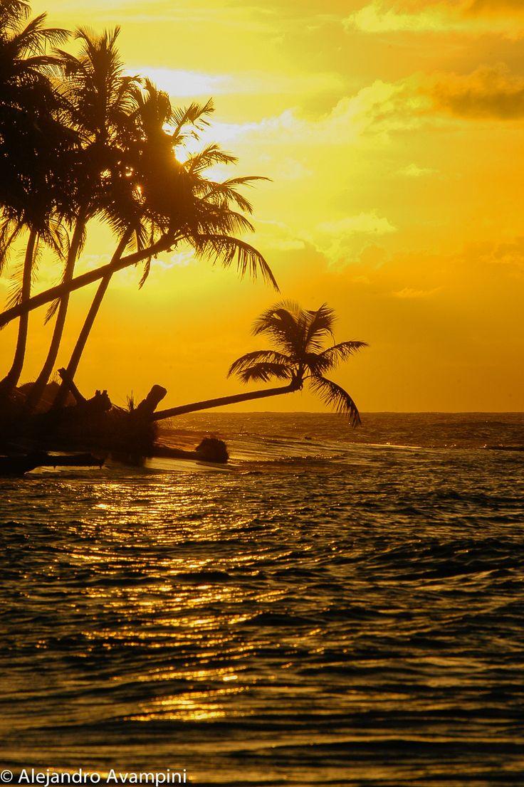 Sunset in Playa Bonita - Las Terrenas - Dominican Republic Atardecer en Playa Bonita - Las Terrenas - República Dominicana #sunset beach #caribbean