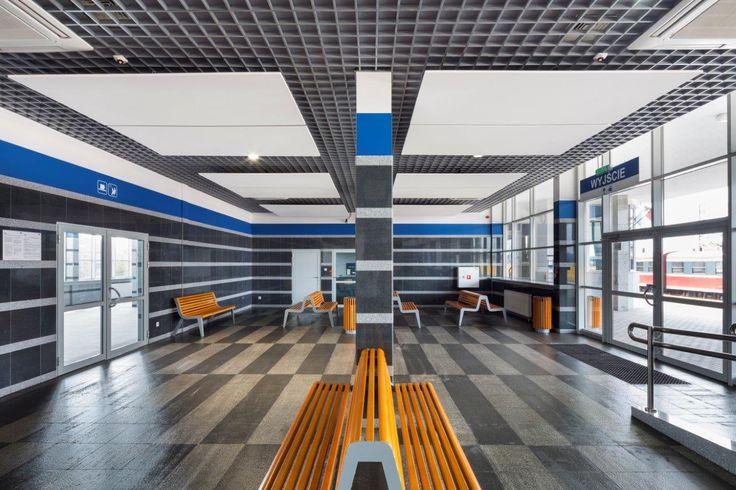 Dworzec PKP, Armstrong Sufity Podwieszane, ceiling, sufit akustyczny, acoustic