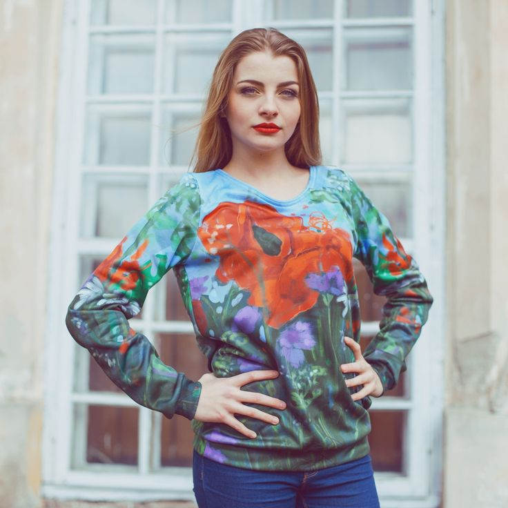 Cool Floral all-over print sweatshirt from boom-wear.com   Only now FREE shipping to all buyers from EU!