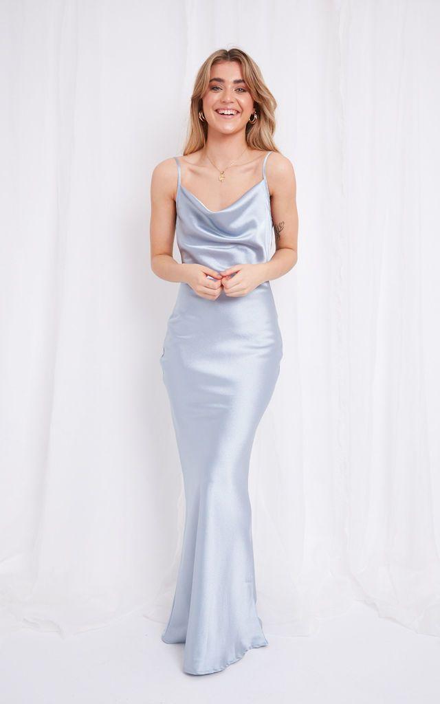 Judith Royal Blue Wrap Front Batwing Dress | Missfiga | SilkFred