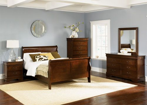 like this gray paint to coordinate with our cherry furniture