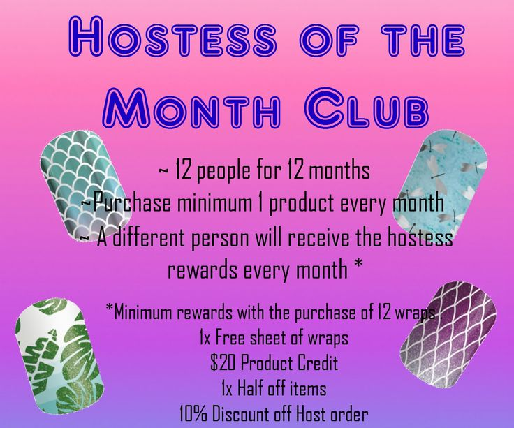 Hostess of the month club with Jamberry AU
