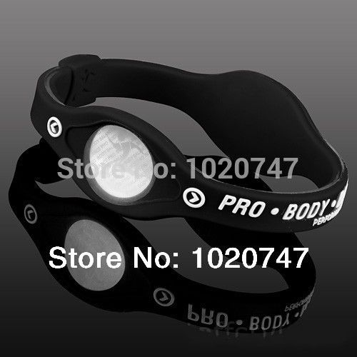 Free Shipping  Silicone Bracelet with Hologram Bracelets Power Bands Balance Energy Wristband With