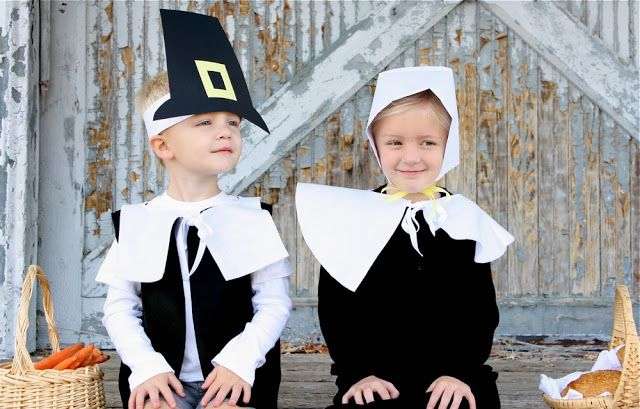 TUTORIAL: Pretend Pilgrim costumes  (Looky, Sarah Sheets! Maybe with pants instead of cargo shorts...)