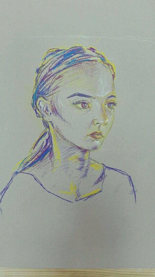 May 2017, crayon