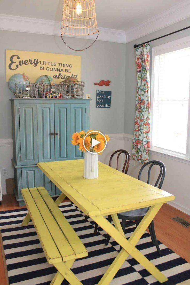 12 idées de table de salle à manger de ferme durable   Salle à ...