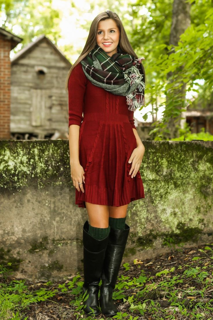 Knit Sweater Dress Burgundy Fall First Look By Trend