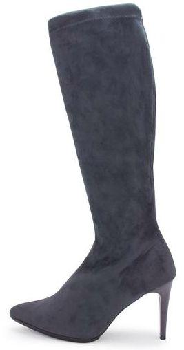 Bota larga puntal, stretch, tacón delgado.  Color: antracita