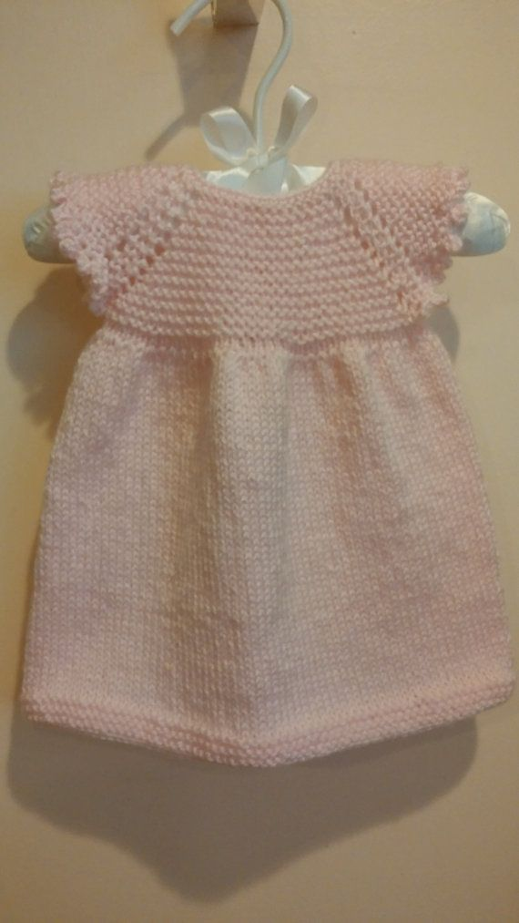 Hand Knit Pink Dress by PurlsandLaces on Etsy, $32.00