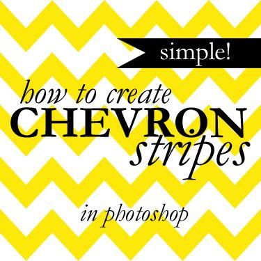 College Prep: Chevron Stripes in Photoshop    (super simple trick!)