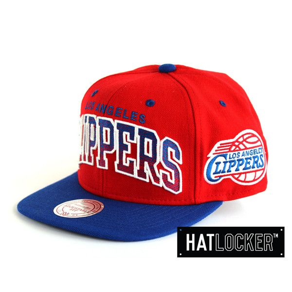 LA Clippers Royal & Red Snapback by Mitchell & Ness | www.hatlocker.com
