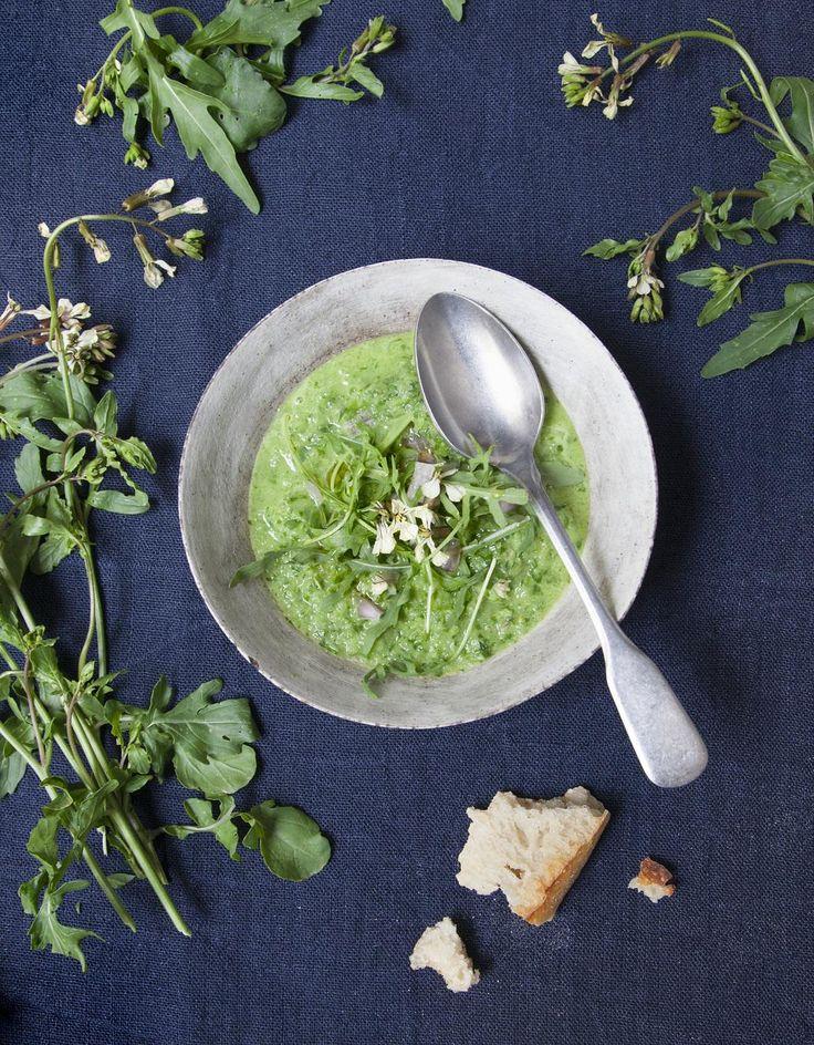 Green gaspacho concombre et roquette pour 4 personnes - Recettes Elle à Table