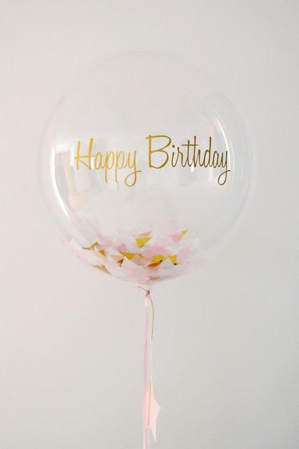 ballon transparent happy birthday