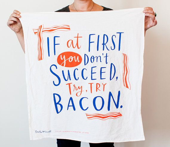 Emily McDowell screenprinted dish towel. (We love everything she makes.)