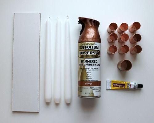 DIY Un candelabro de cobre | Decorar tu casa es facilisimo.com