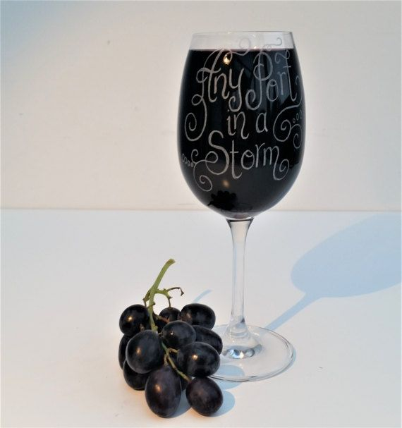 Personalised Port Glass hand engraved with your choice of