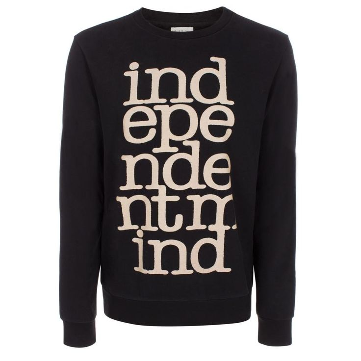 Black 'Independent Mind' Loopback-Cotton Sweater