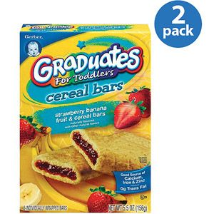 Gerber Graduates Strawberry Banana Fruit & Cereal Bars, 8 count (Pack of 2)
