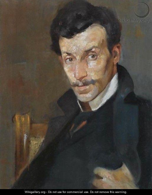 Portrait Of The Painter Gerassimos Dialismas - Nikolaos Lytras