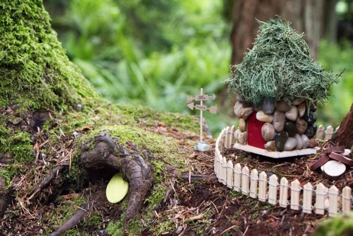 little fairy cottage once upon a time in an enchanted wood Dragons and Fairies Baby Shower by Jennifer via #babyshowerideas4u baby shower ideas for boys and girls