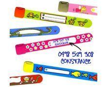 Bracelet SOS pour enfants. Pratique pour inscrire le numéro de téléphone des parents