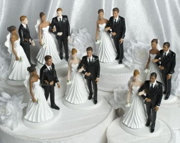 Chic Interracial Wedding Couple - Multiple Ethnicities i order it!!