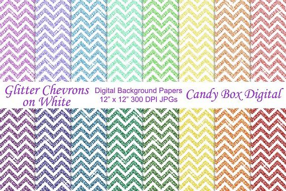 Glitter Chevron Background Papers 2 by Candy Box Digital on @creativemarket