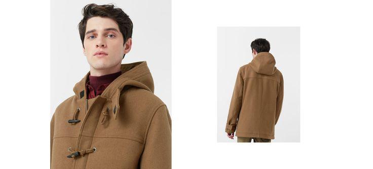Duffle-coat en laine avec doublure matelassée
