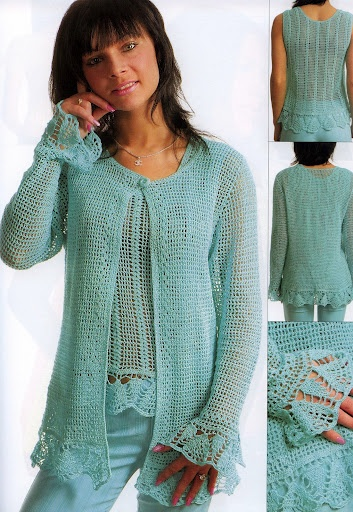sweater set #crochet