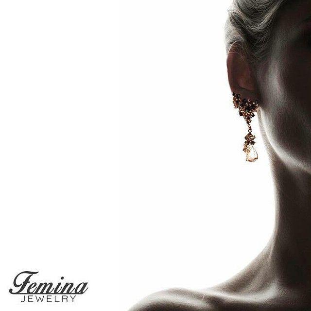 """If I had my way, I'd wear jewelry, a great pair of heels and nothing else."" -Jada Pinkett Smith #feminajewelry #jewelry #jewellry #earrings #quote #diamonddrops #gold #diamonds"