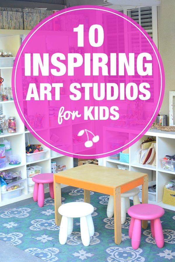 10 Inspiring Art Studios For Kids   Kids Craft Class   Pinterest   Kids Art  Space, Kids Room Art And Art Studio Design
