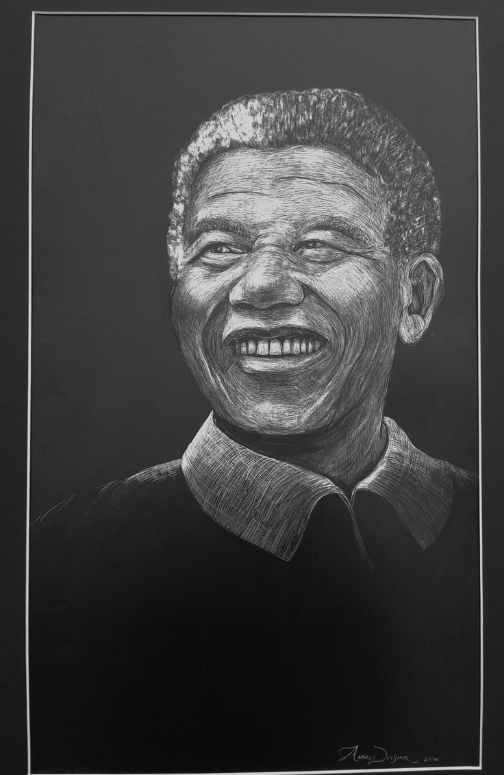 Completed my Commission for Mandela Day 2014. Medium Scraperboard.
