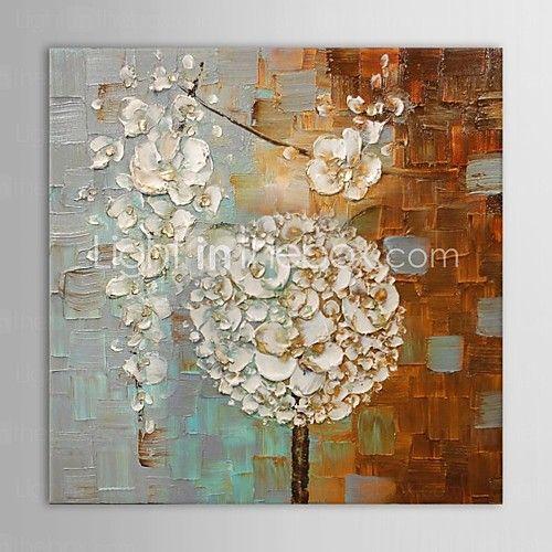 Pintada a mano Abstracto Un Panel Lienzos Pintura al óleo pintada a colgar For Decoración hogareña - EUR €58.79