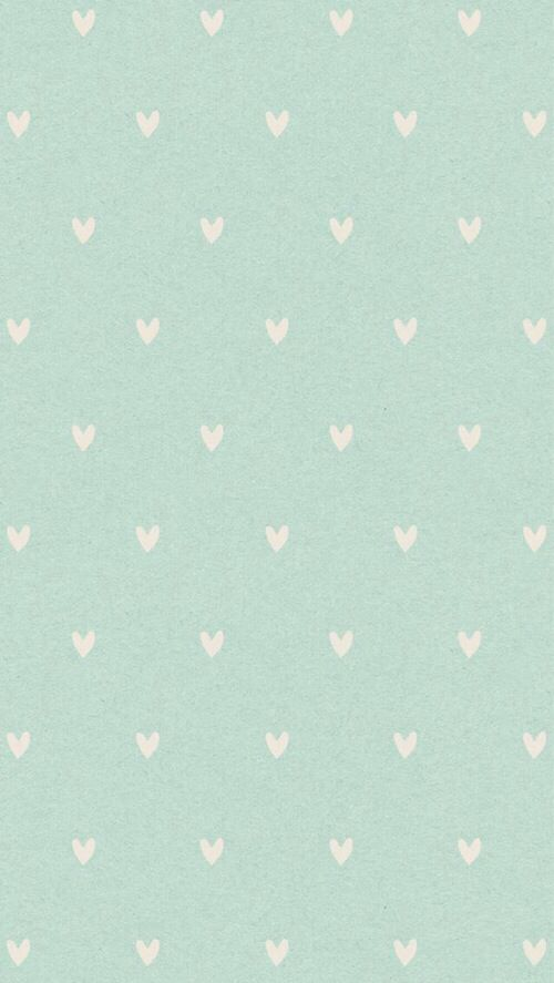 Mint cream mini hearts iphone phone background lock screen wallpaper