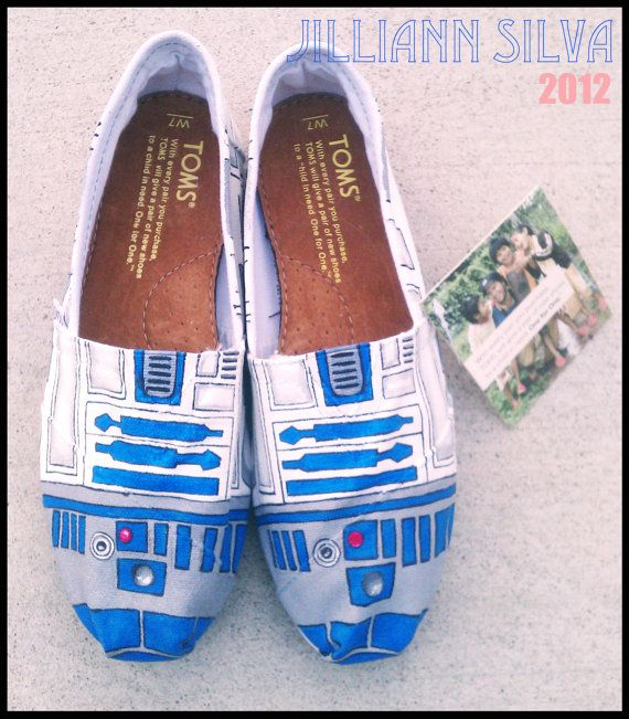 R2D2 STAR WARS  Toms  New Shoes Included  by eastbaycalifornia, $110.00