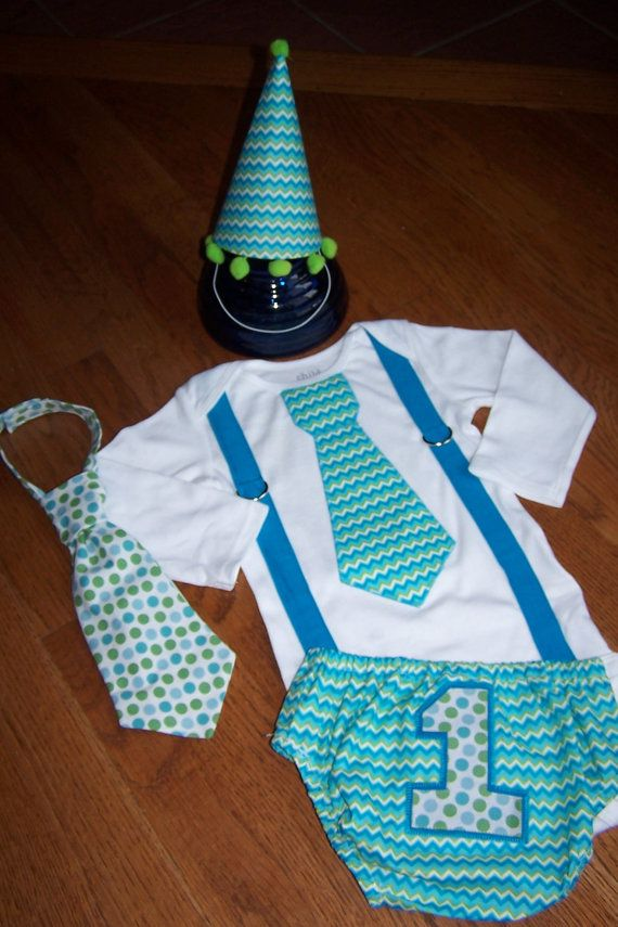 Sara: Boys Birthday Set boys 1st birthday cake by AStitchInTimeCouture