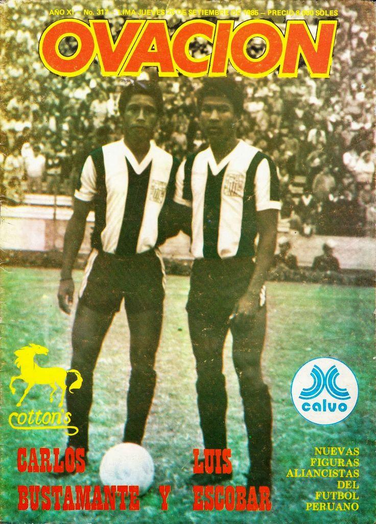Carlos Bustamante y Luis Escobar  Septiembre de 1985 OVACION REVISTAS