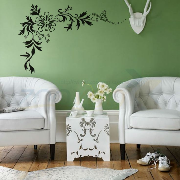 Find More Wall Stickers Information About Classical Black Flower Vine Home Decoration  Wall Decal ZooYoo7032 Decorative