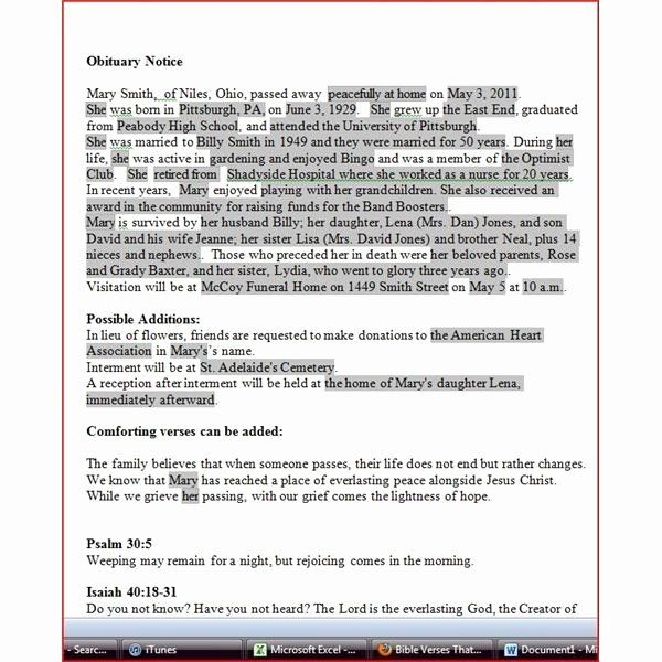 Obituary Template For Microsoft Word Inspirational Obituary Template For Microsoft Word 2018 Recipe Book Templates Obituaries Template Templates