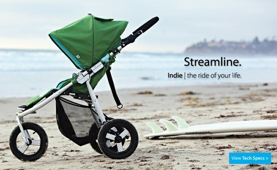 Bumbleride Indie Baby Stroller in Seagrass